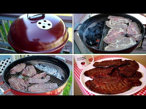 Slow 'N Sear Chuck Steaks Weber Kettle