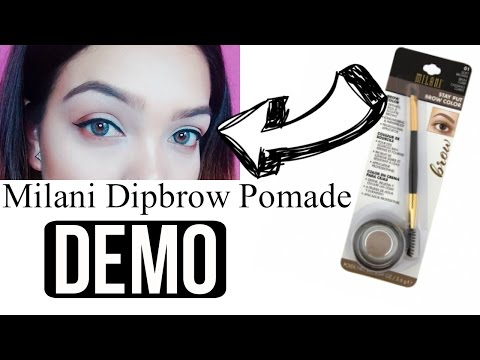 DRUGSTORE EYEBROW TUTORIAL Using Milani Stay Put Brow Color