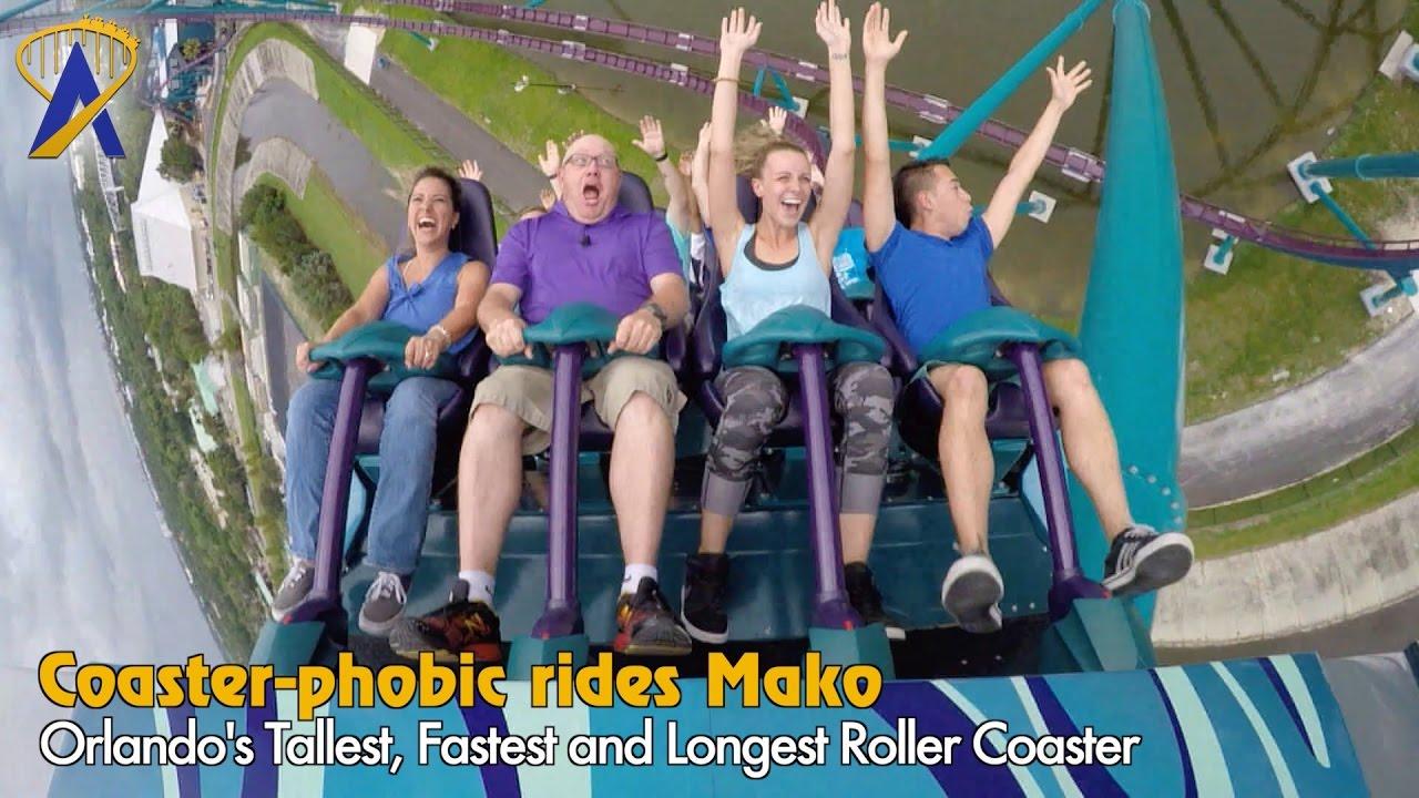 Coaster-phobic rides Orlando's tallest, fastest, and longest coaster - Mako at SeaWorld