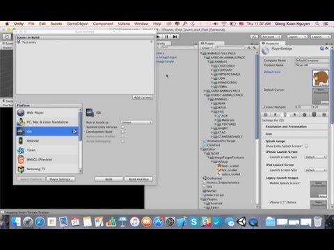 Build Unity Scene to iOS App.