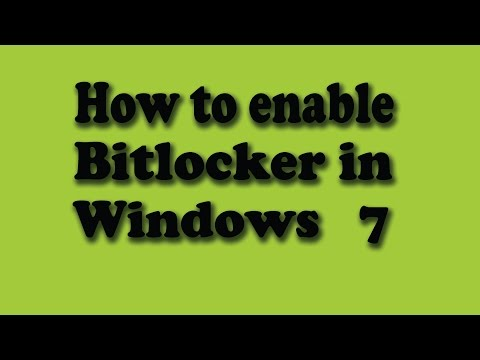 How to enable bitlocker in windows 7 professional