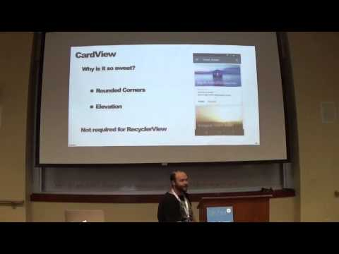 Aaron Goldberg - New Features in Android Lollipop: RecyclerView and CardView | 10am DevFestMN 2015