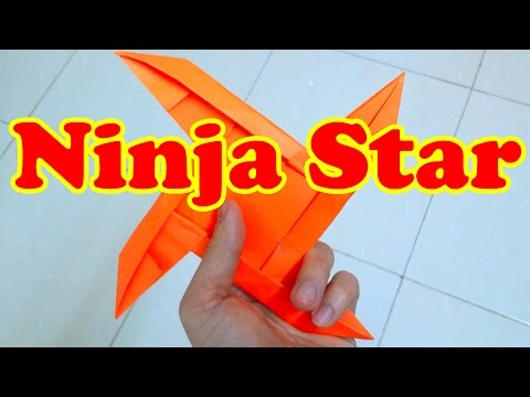 How To Make a Paper Ninja Star 4 Pointed   Origami