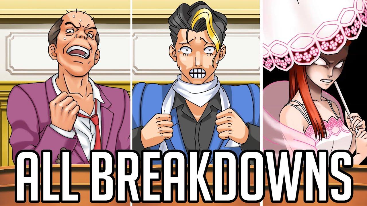 Ace Attorney Trilogy HD - All Breakdowns