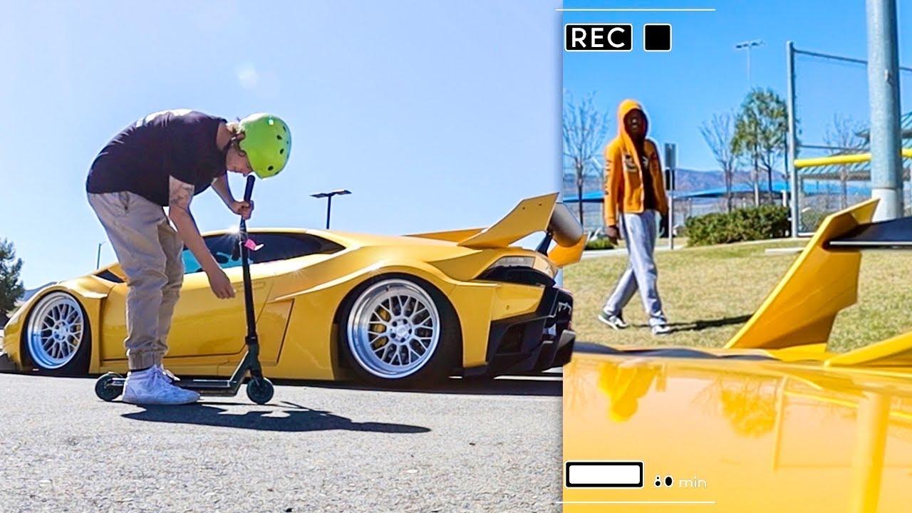 Taking My 1000HP Lamborghini To The Skatepark!