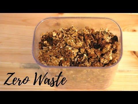 How To Make Easy Vegan Zero Waste Cereal / Granola.