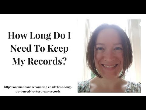 How Long Do I Need To Keep My Records?