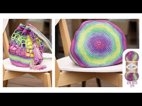 Çanta yapımı-Making Bag with Alize Diva-Diva Batik