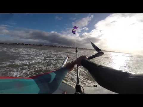 '1 Foot fun' kitesurfing UK- The  Kite Monkeys