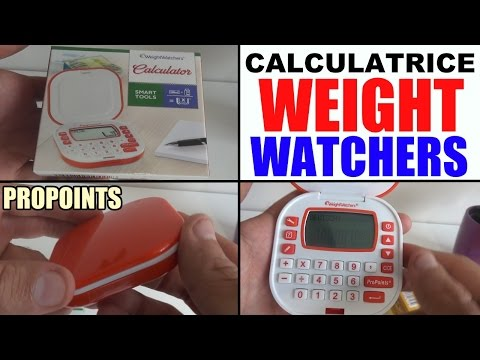 calculatrice weight watchers propoints (non flexipoints)
