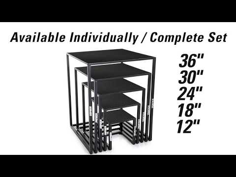Durable and compact square plyo boxes!