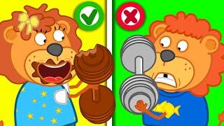 Staged a Chocolate Challenge #2 🍫 Lion Family | Cartoon for Kids