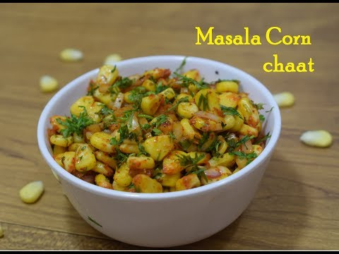 Corn Chaat Recipe-Bhutta Chaat-Masala corn recipe-मसाला स्वीट कॉर्न-Spicy sweet corn chaat-Corn Bhel