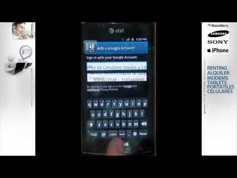 Sistema operativo Android como configurar cuenta de correo google Samsung Galaxy Ace