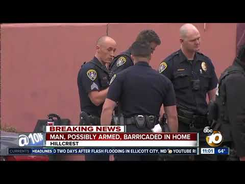Man holed up in Hillcrest home