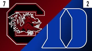 7 South Carolina vs. 2 Duke Prediction | Who