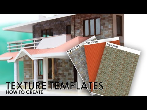 How to Create TEXTURE TEMPLATES for Building models   easy way
