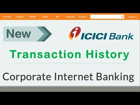 #6 How To View Transaction History & Mini Statements of ICICI Corporate Banking - Somesh Gupta