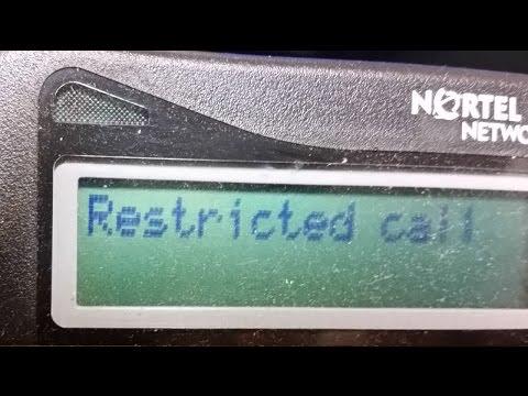 Norstar Dialing restrictions