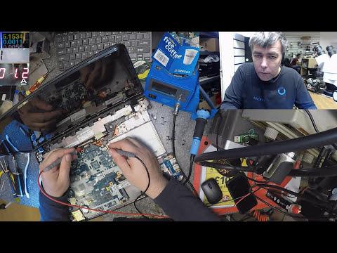Packard bell easynote laptop, no power , motherboard repair