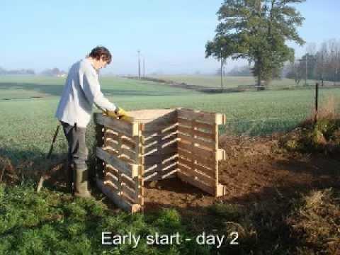 Wooden Pallet Composting System - 3 Bay / Bin