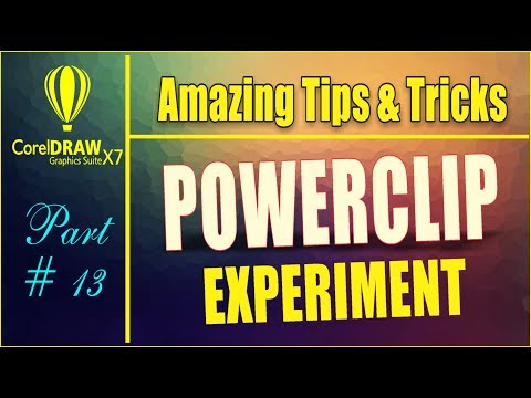 Coreldrw x7 - Amazing Tips & tricks - How to Use Powerclip tool + Many Shortcut Ways Part #13