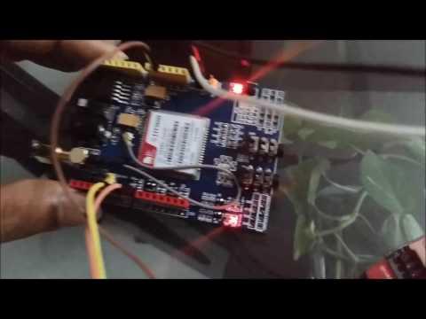 SIM900 GSM/GPRS Shield Interface with Arduino UNO -- Arduino GSM Tutorial