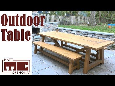 White Oak Farmhouse Table and Benches