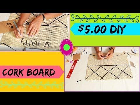 DIY Corkboard Inspiration Board Using Foam Board Cheap and Easy! $5