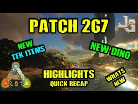 ARK - Patch 267 - Otter dino -  New Tek item - Recap & Highlights