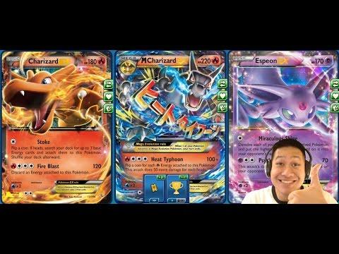New Generations Mega Charizard Ex Deck Challenging Dark Ex Pokemon with Heat Typhoon