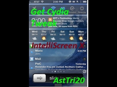 Cydia Tweak:-Intelliscreen X Works On iPhone5/4s/4/3Gs,iPad Mini/iPod Touch with iOS 6.0 ..(Review)