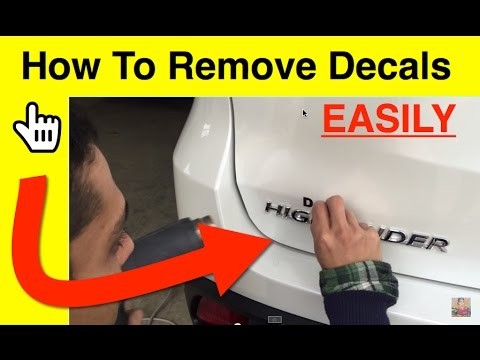 How To Easily Remove Decals Using a Hair Dryer