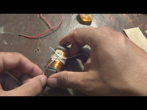 Alternator coil winding DIY.