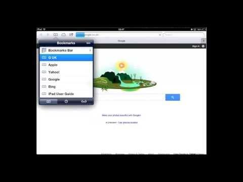 Bookmarking on iPad. Helpful Hints