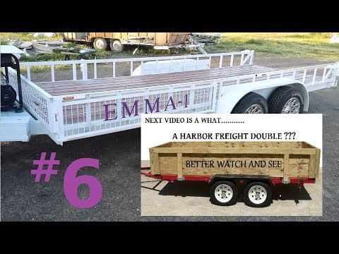 DIY 16 x 6 Double Axle Trailer for $600 (parts listed below) #6