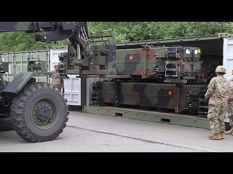 Patriot Missile Convoy Loading