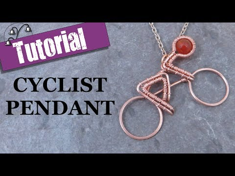 Wire Wrapped Cyclist Pendant