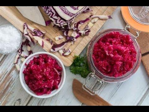 Low Fat Vegan DIY Fermented Red Cabbage Sauerkraut EASY!
