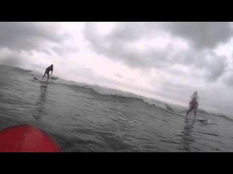 Learning how to surf in Bali, Indonesia.