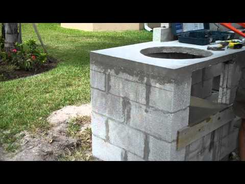 Concrete Outdoor Kitchen Overview and Tips during construction