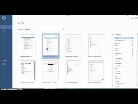 How to Use Resume Wizard in Microsoft Word : Microsoft Office Help