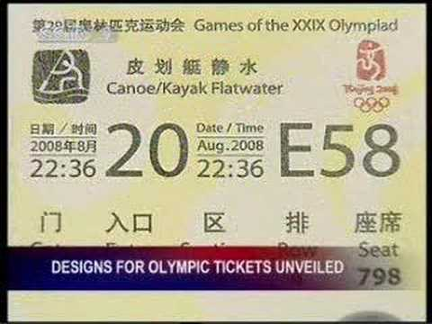 Design for Olympic tickets unveiled