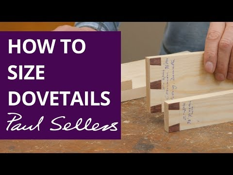How to Size Dovetails | Paul Sellers