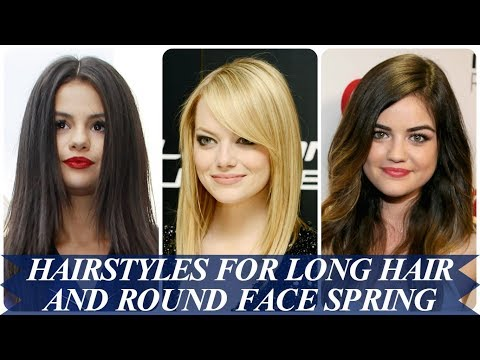 20 ideas for hairstyles for long hair and round face spring 2018