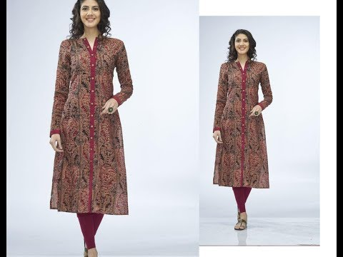 Elegant Front Slit Open Full  Sleeves Kurta Drafting & Cutting  Simple & Easy Making- Step by Step