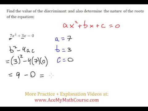 Discriminant (Quadratics) - Worked Example #4 (Basic Level)