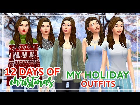 12 Days of Christmas in The Sims 4 🎄🎄 | My Holiday Outfits (Day #12)