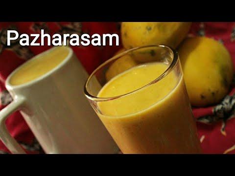 Pazharasam - Mango, jack fruit and banana drink - Juice recipe - Mango juice