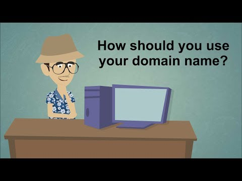 How should you use your domain name